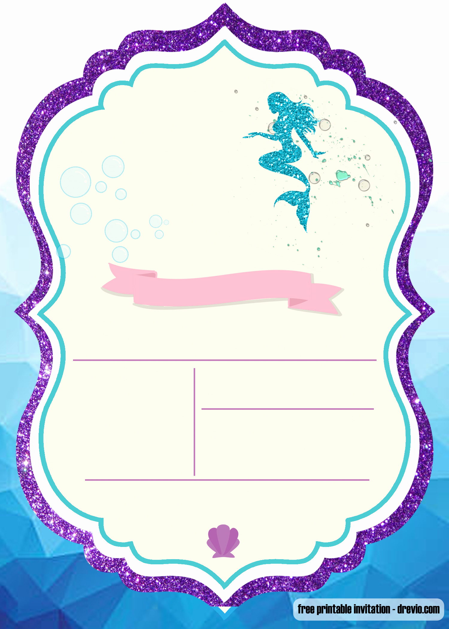 Under the Sea Invitation Template Awesome Free Printable Under the Sea Invitation Templates