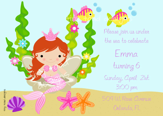 Under the Sea Invitation Template Best Of Mermaid Under the Sea Birthday Party Invitation Diy