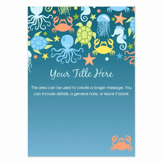 Under the Sea Invitation Template Best Of Under the Sea Invitations Template