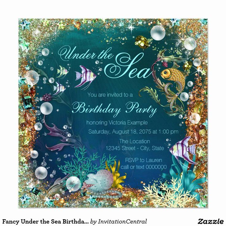 Under the Sea Invitation Template Elegant 1000 Ideas About 21st Birthday Invitations On Pinterest