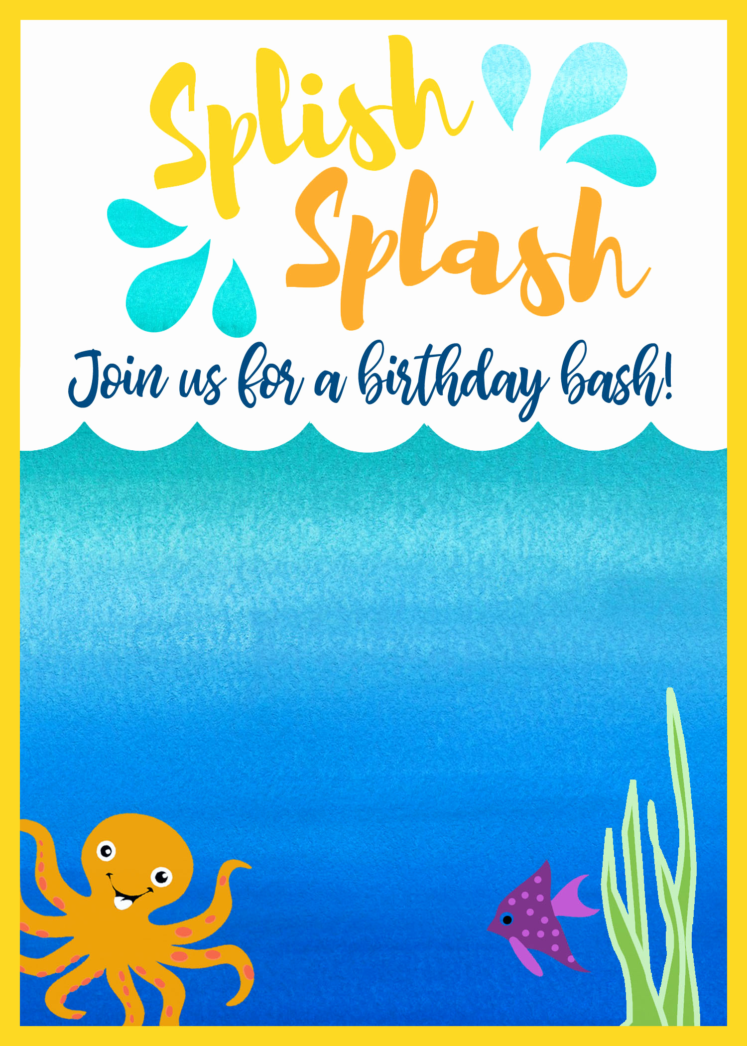 Under the Sea Invitation Template Elegant Ocean themed Birthday Party A Real Mom S Guide the Many