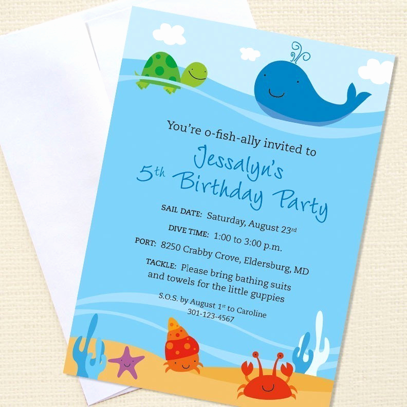 Under the Sea Invitation Template Inspirational Printable Under the Sea Party Invitations Trials Ireland