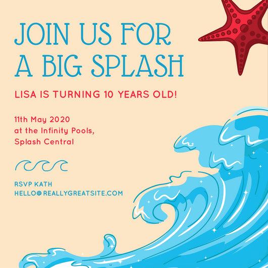 Under the Sea Invitation Template Luxury Birthday Invitation Templates Canva