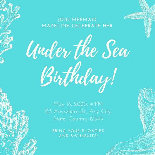 Under the Sea Invitation Templates Awesome Vintage Invitation Templates Canva