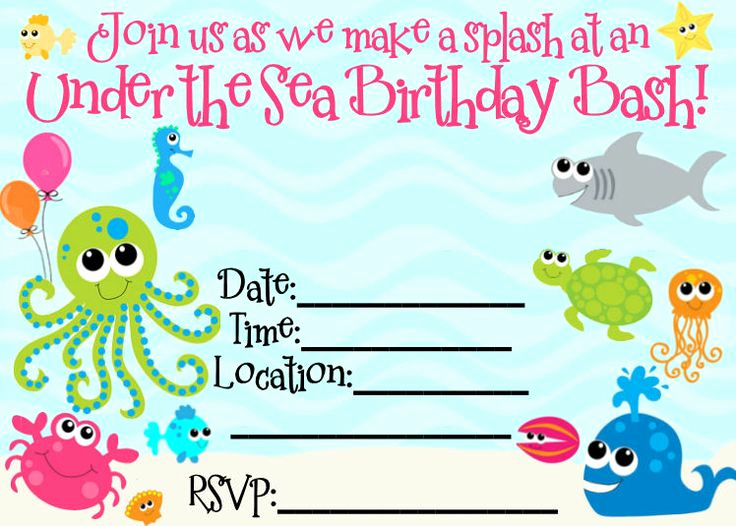 Under the Sea Invitation Templates Beautiful Best Ideas About Printables Edited Printables Change and