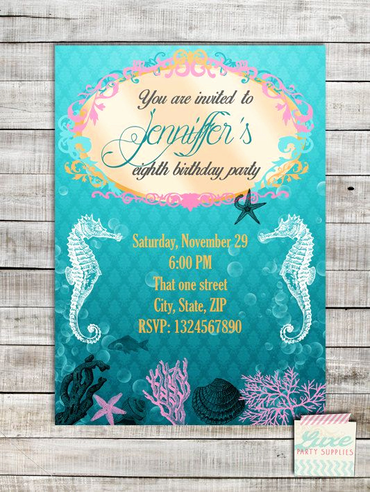 Under the Sea Invitation Templates Luxury Coupon Code Repin10 for Off Under the Sea Birthday