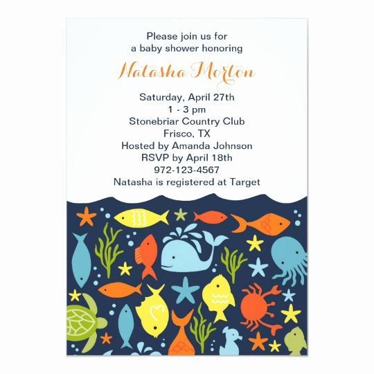 Under the Sea Invitation Templates New Under the Sea Baby Shower Invitation