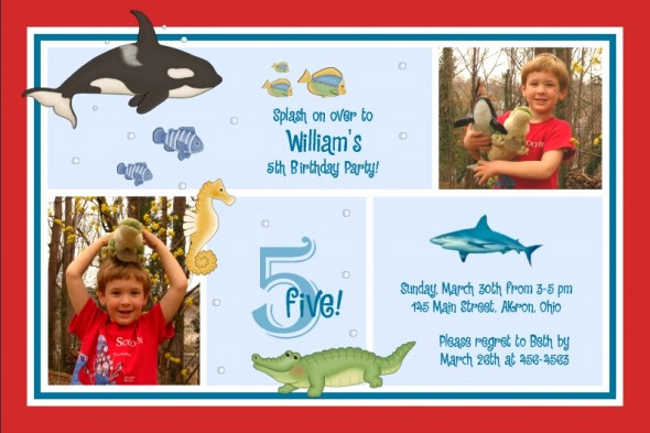 Under the Sea Invitation Wording Luxury 5th Birthday Party Invitation Wording