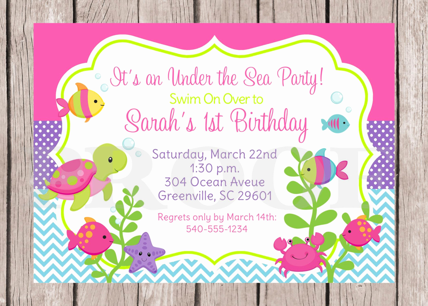 printable under the sea birthday party