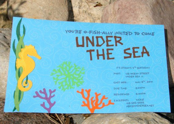 Under the Sea Invitation Wording New 17 Best Images About Under the Sea Party Invitations On