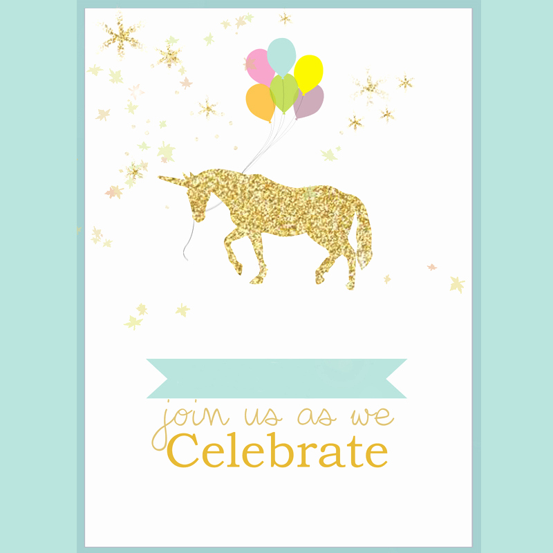 Unicorn Birthday Invitation Template Elegant 8 Magical Unicorn Birthday Invitations