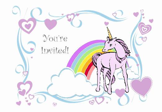 Unicorn Birthday Invitation Template Elegant Rainbow Unicorn Invitations