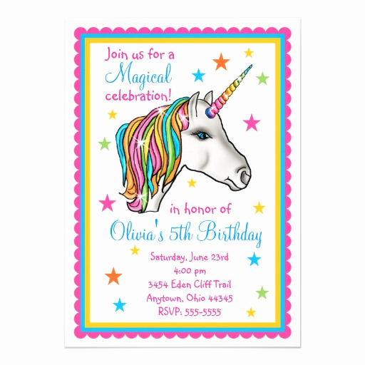 Unicorn Birthday Invitation Templates Awesome Personalized Mystical Invitations
