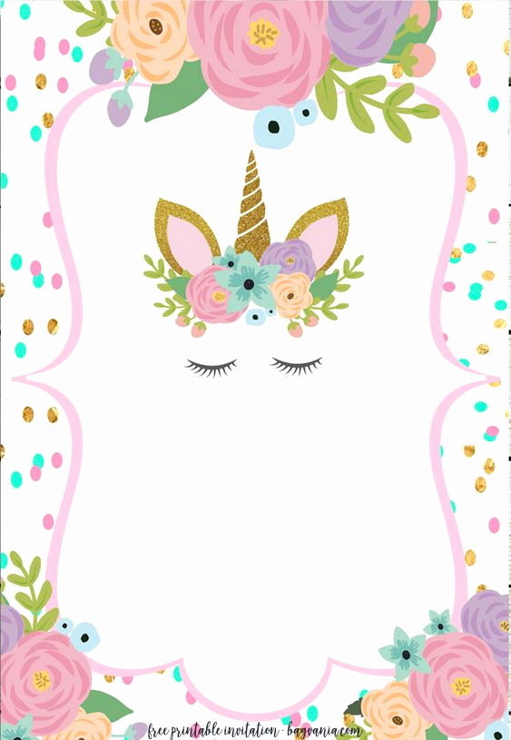 Unicorn Birthday Invitation Templates Fresh Free Unicorn Invitation Templates New