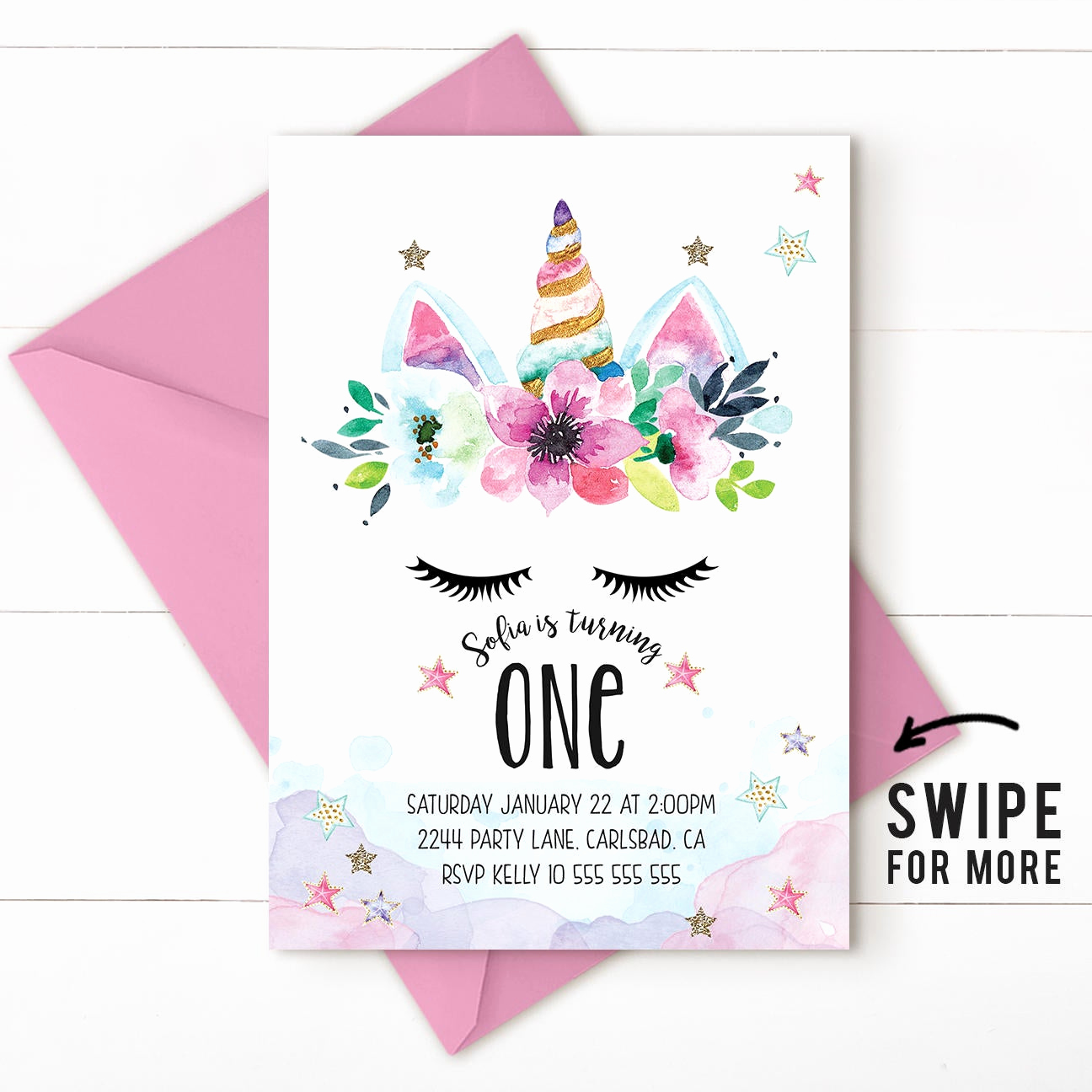 Unicorn Birthday Invitation Templates Luxury Unicorn Birthday Invitation Unicorn Invitation Magical