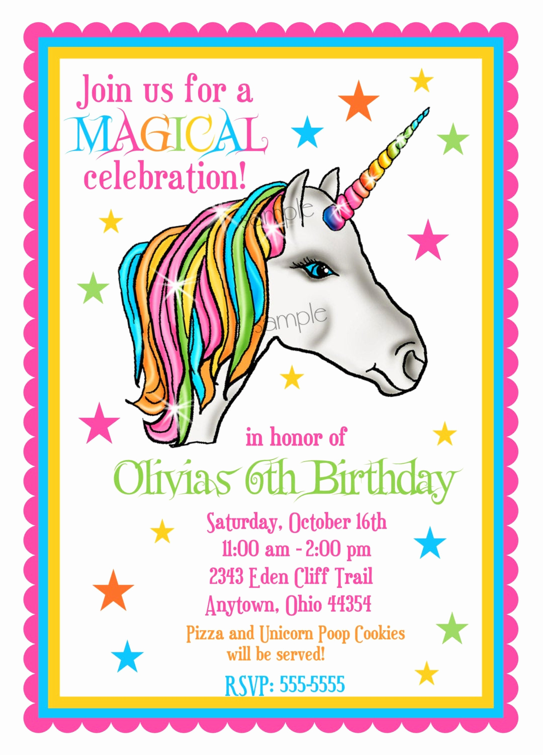 Unicorn Birthday Invitation Templates Unique Unicorn Invitations Unicorn Birthday Party Invitations