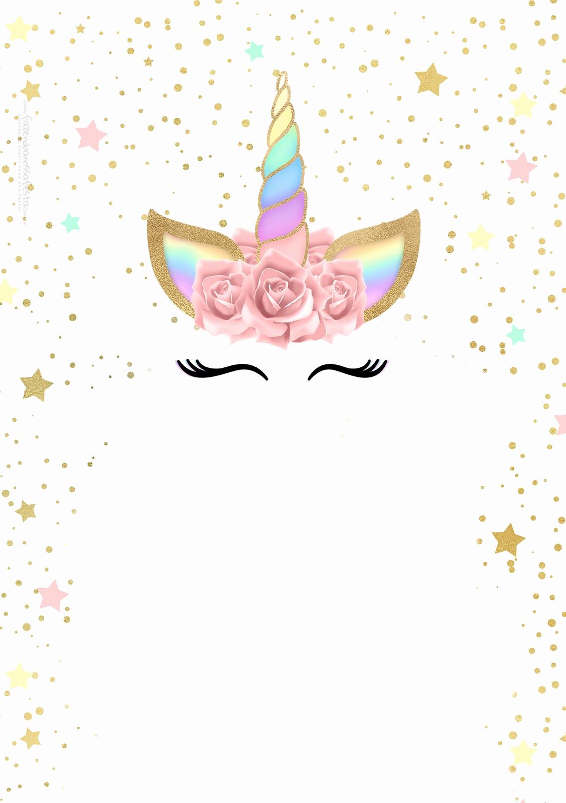 Unicorn Invitation Template Free Awesome Unicorn with Rainbow Free Printable Invitations Oh My