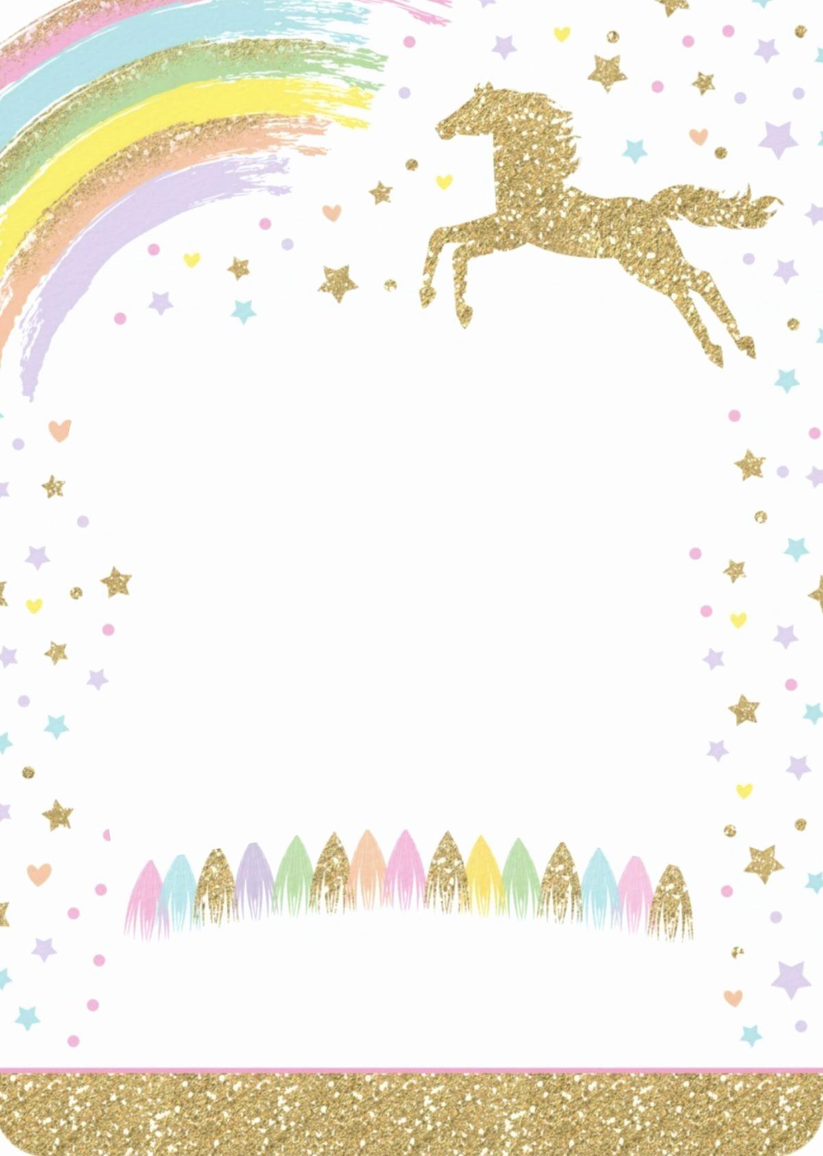 Unicorn Invitation Template Free Beautiful 8 Magical Unicorn Birthday Invitations