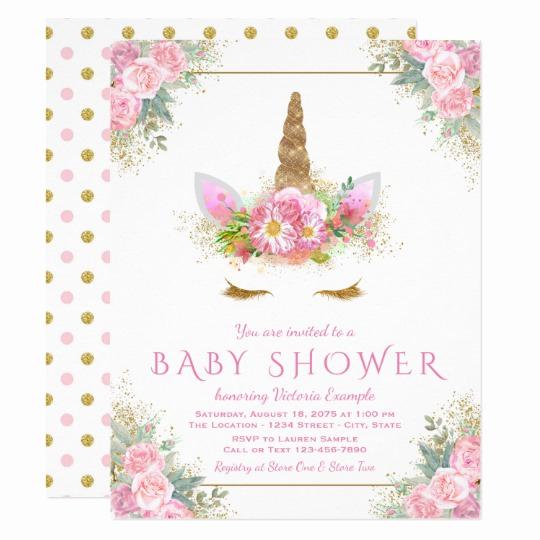 Unicorn Invitation Template Free Beautiful Adorable Unicorn Face Baby Shower Invitations