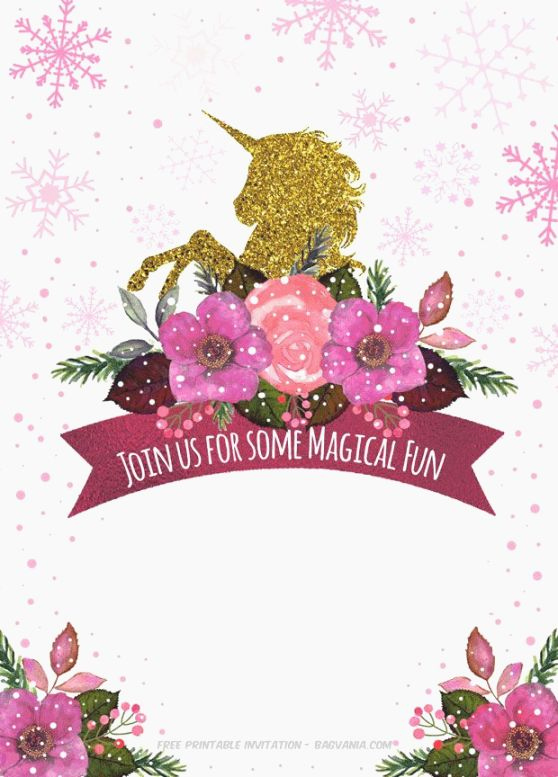 Unicorn Invitation Template Free Best Of top 44 Breathtaking Free Printable Unicorn Invitations