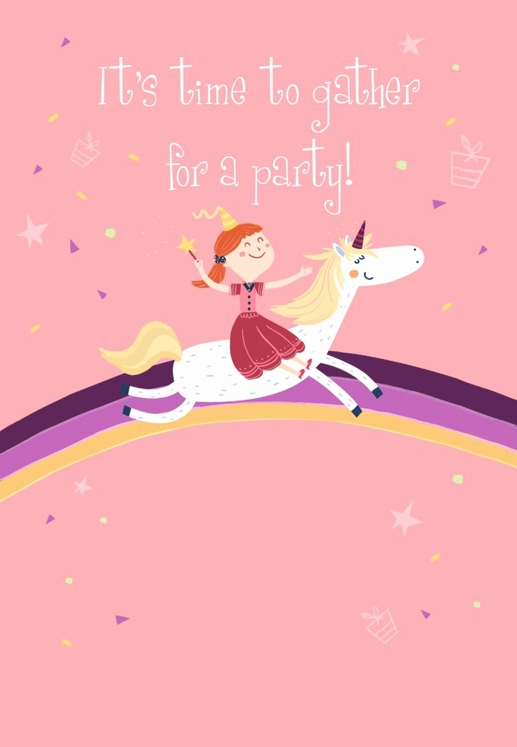 Unicorn Invitation Template Free Elegant Unicorn Free Printable Birthday Invitation Template