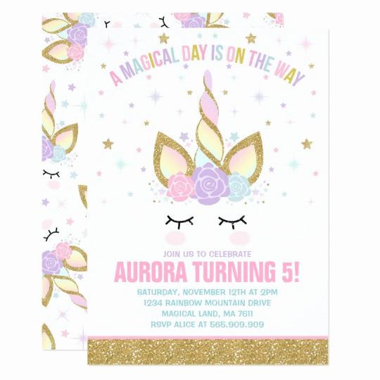 Unicorn Invitation Template Free Lovely Magical Unicorn Birthday Invitation Unicorn Party