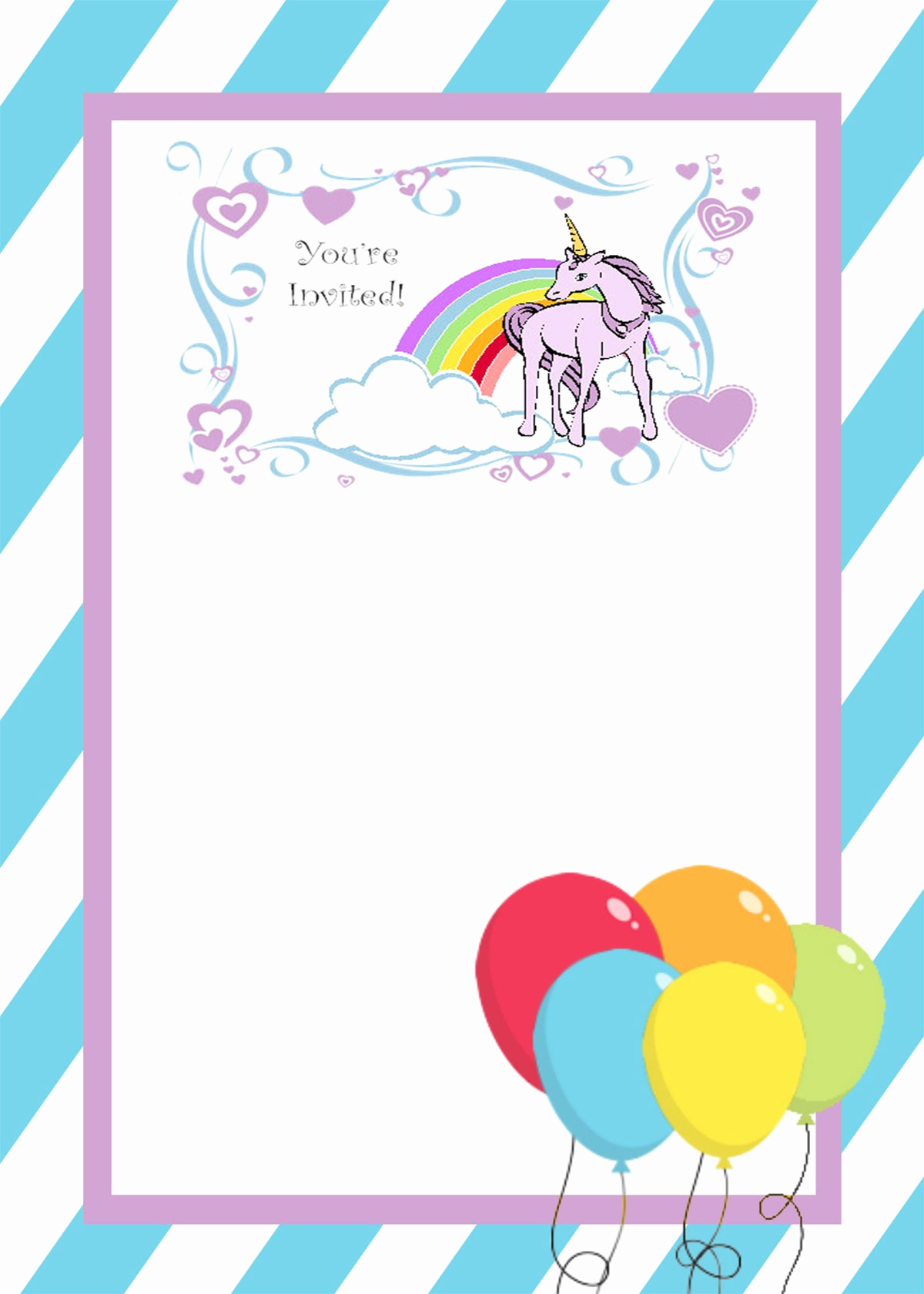 Unicorn Invitation Template Free Luxury How You Can Make First Birthday Invitations Special