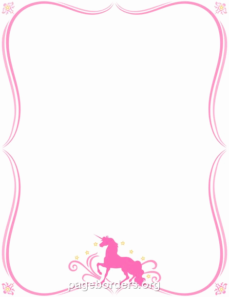 Unicorn Invitation Template Free Unique Pin by Muse Printables On Page Borders and Border Clip Art