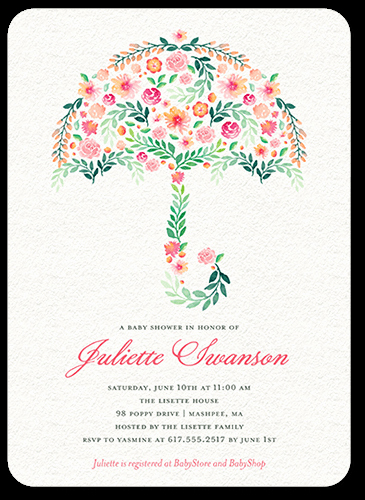 Unique Baby Shower Invitation Ideas Best Of Floral Umbrella 5x7 Unique Baby Shower Invitations