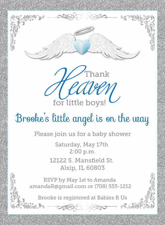 Unique Baby Shower Invitation Ideas Elegant Thank Heaven for Little Boys Baby Shower From