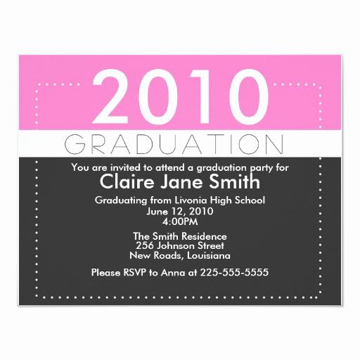 """Unique Graduation Invitation Ideas New Graduation 4 25"""" X 5 5"""" Invitation Card"""