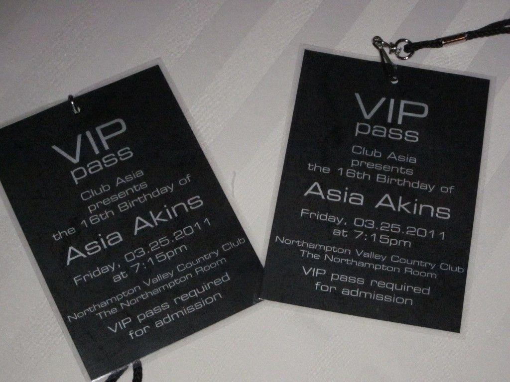 Unique Party Invitation Ideas New Vip Pass Invitations Custom Invitations Club theme Party