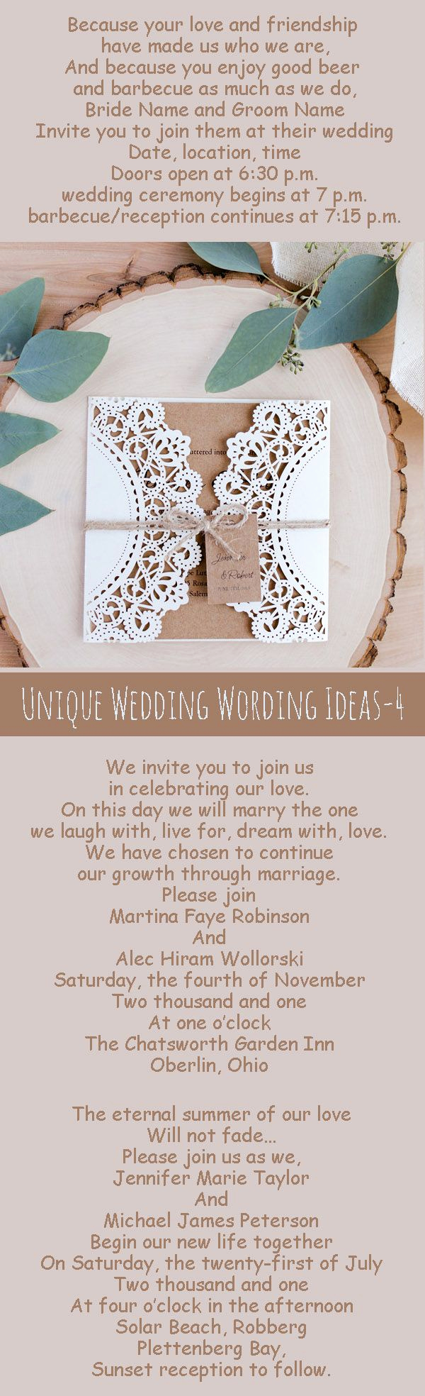 Unique Wedding Invitation Wording Inspirational Best 25 Unique Wedding Invitation Wording Ideas On