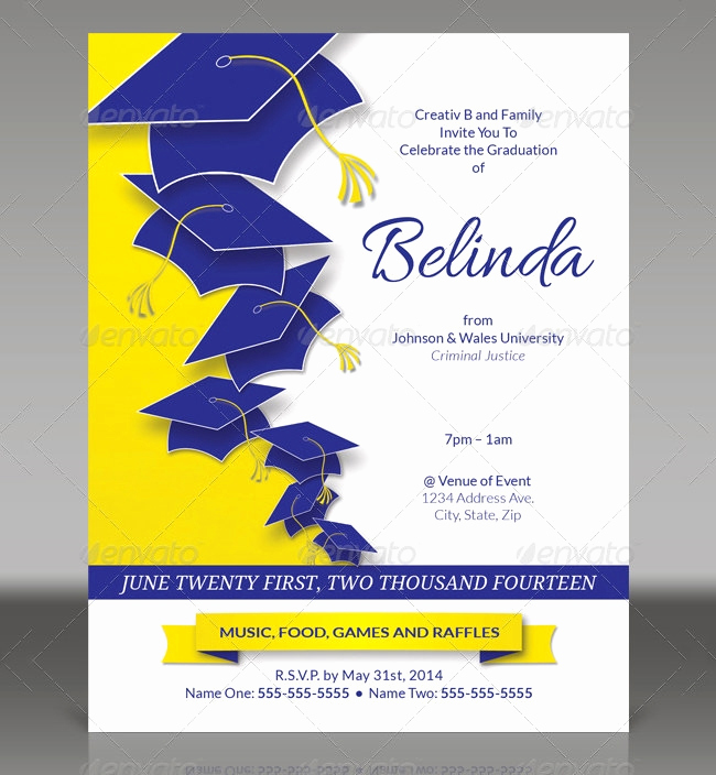 University Graduation Invitation Templates Awesome 25 Graduation Invitation Templates Psd Vector Eps Ai