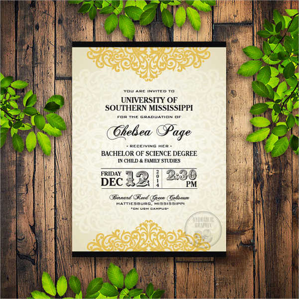 University Graduation Invitation Templates Inspirational 50 Graduation Invitation Templates Psd Ai Word