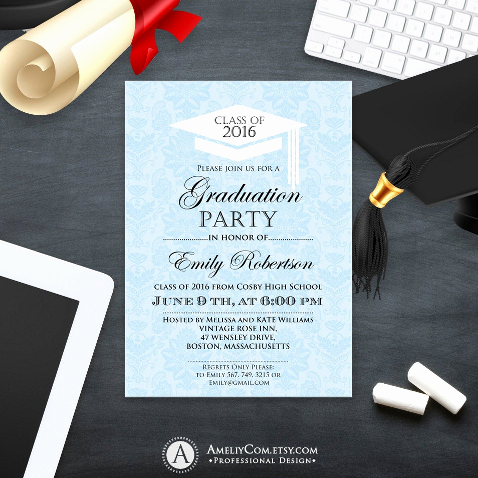 University Graduation Invitation Templates Inspirational Printable Graduation Invitation Template College Graduation