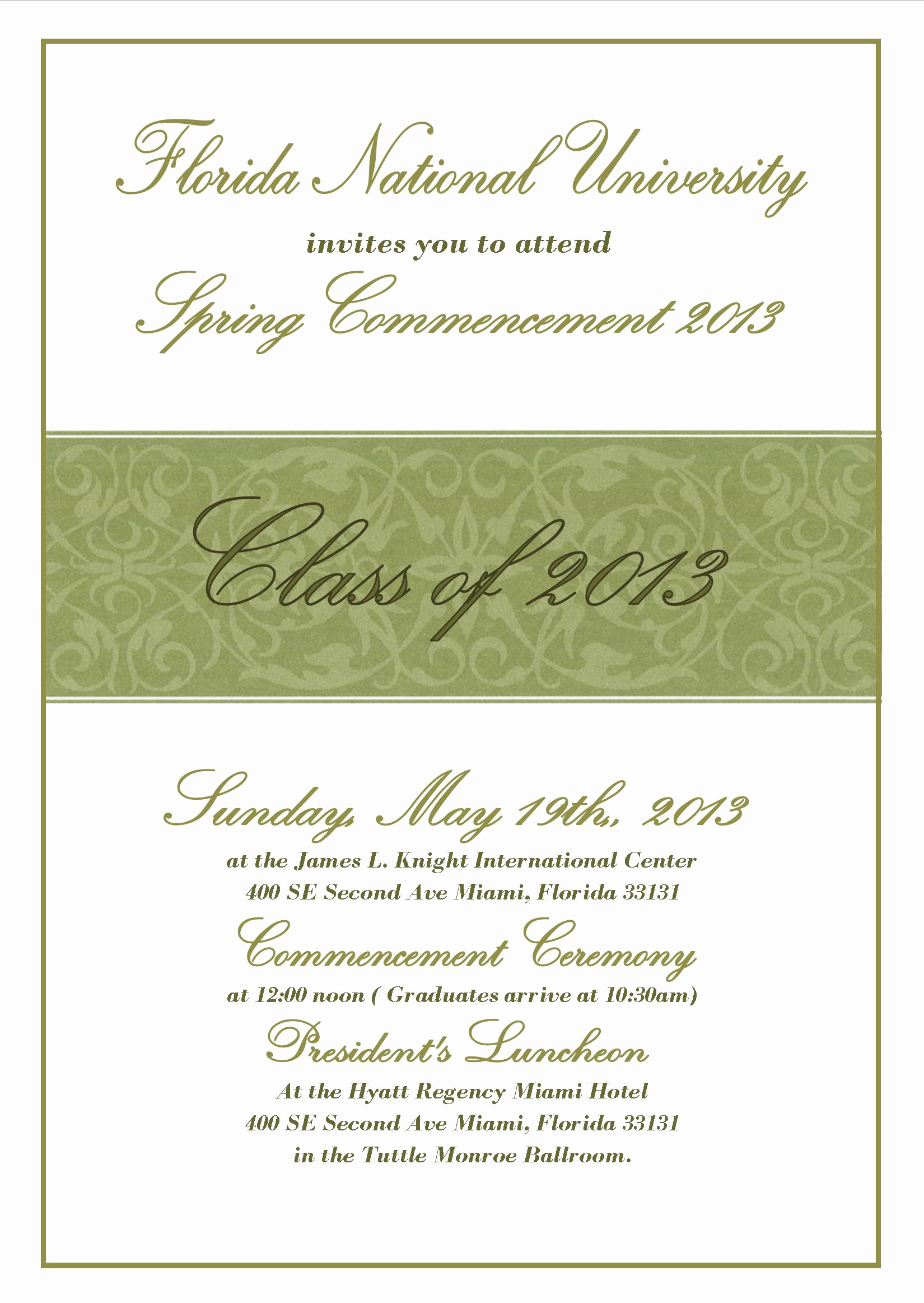 University Graduation Invitation Templates Lovely Mencement Ceremony Invitation