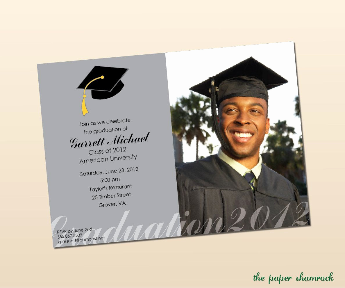 University Graduation Invitation Templates Luxury Pin On event Decor Ideas