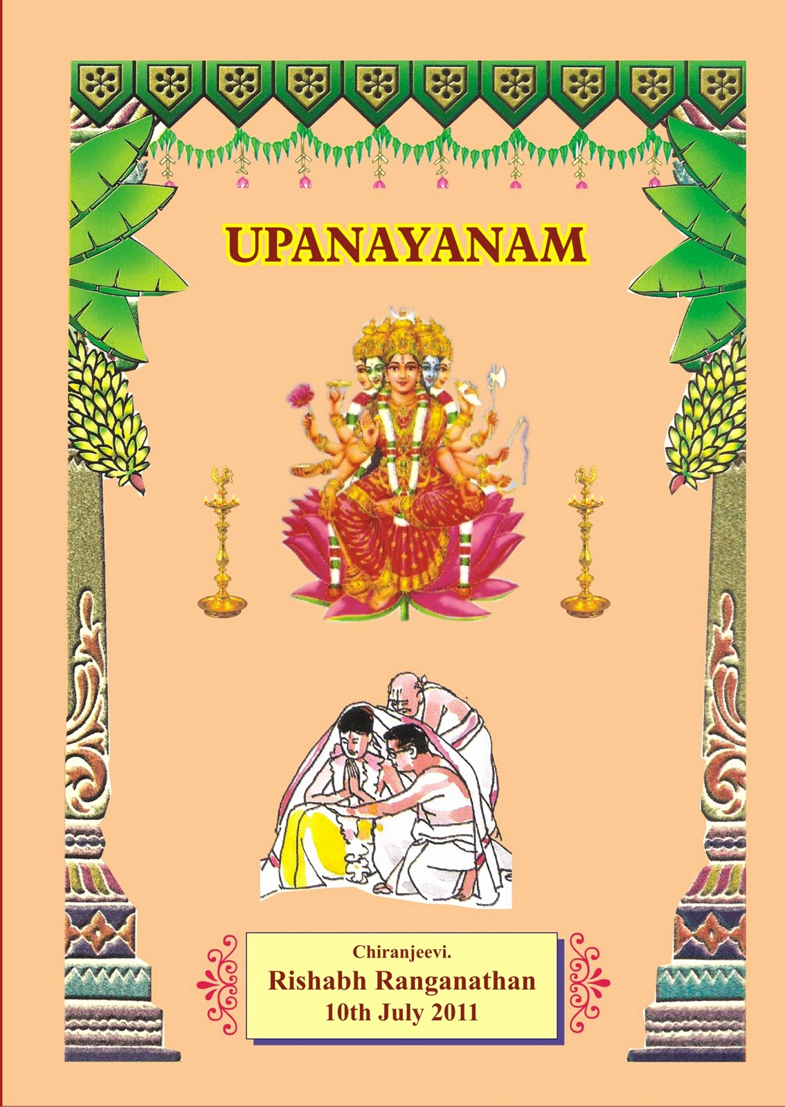 Upanayanam Invitation Card Sample Elegant Srividya & Ranganathan S Page Invitation for Rishabh S