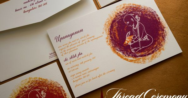 Upanayanam Invitation Card Sample Lovely A Modern touch to the Munj Batu Threadceremony