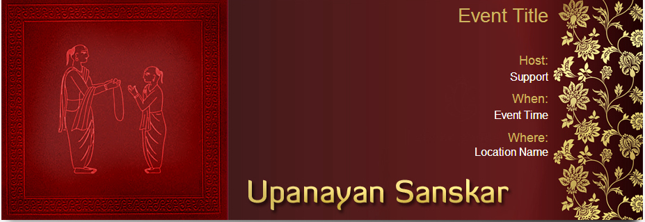 Upanayanam Invitation Card Sample Lovely Yoovite