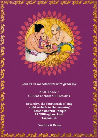 Upanayanam Invitation Card Sample Luxury Marked the Acceptance Invitation Invites