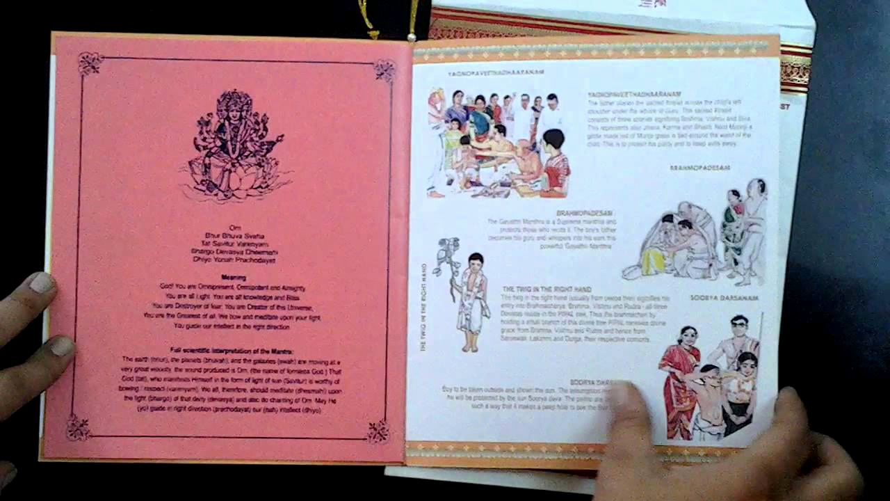 Upanayanam Invitation Card Sample Luxury Two Fold Upanayanam Cards Bigger Size