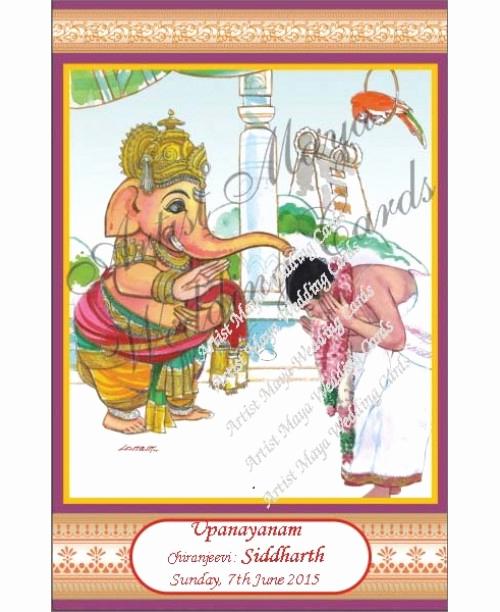Upanayanam Invitation Card Sample New Upanayanam Invitations and Thread Ceremony Invitation Cards