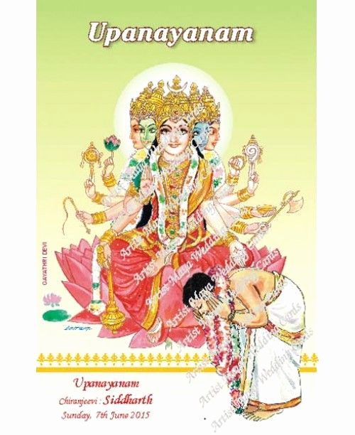Upanayanam Invitation Card Sample New Upanayanam Wishes Greetings Upanayanam Invitations and