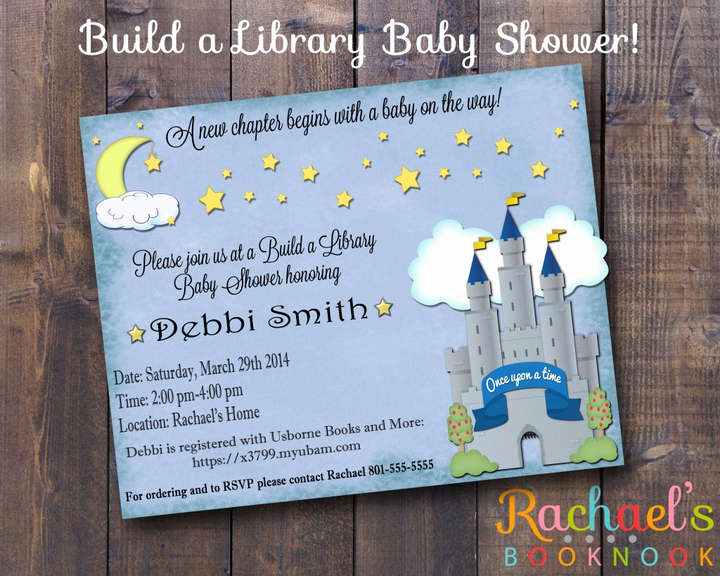 Usborne Book Party Invitation Luxury Build A Library Baby Shower Rachael S Booknook