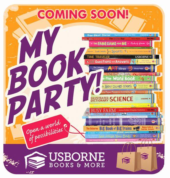 Usborne Book Party Invitation Luxury Hostess Email Invite Option Template