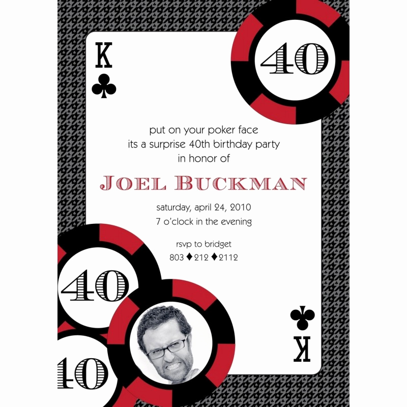 Vegas themed Invitation Templates Awesome Casino Poker Vegas Birthday Party Printable Invitation Red