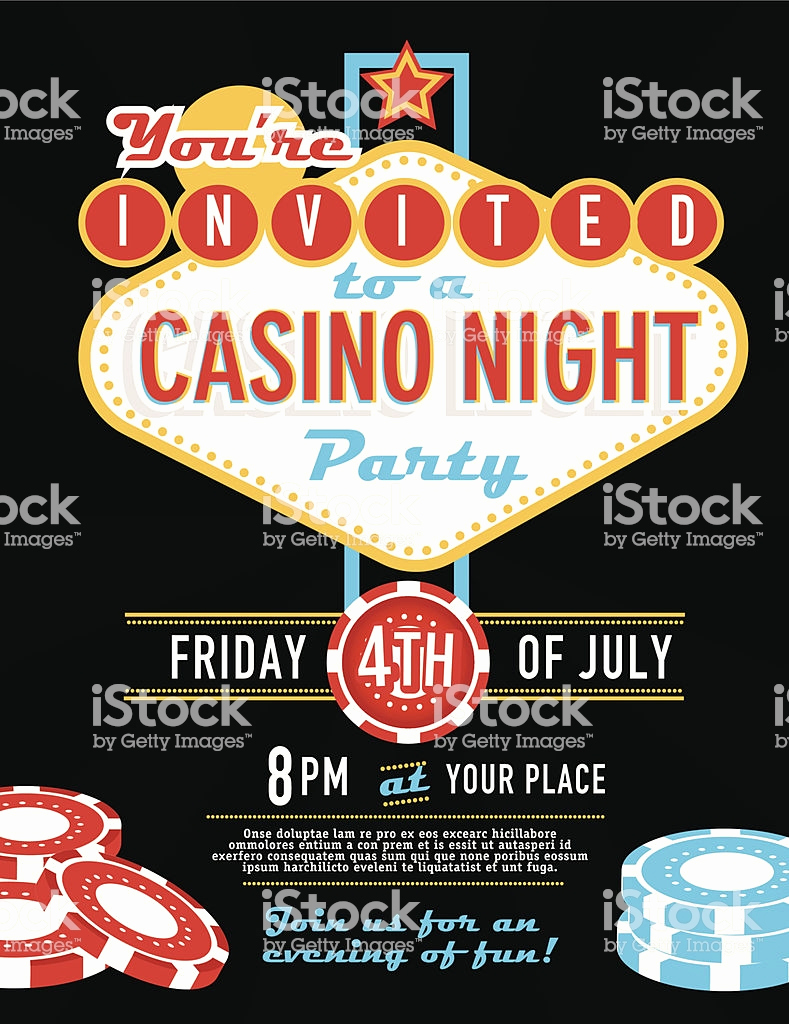 Vegas themed Invitation Templates Beautiful Las Vegas Sign Party and Casino Night Invitation Design