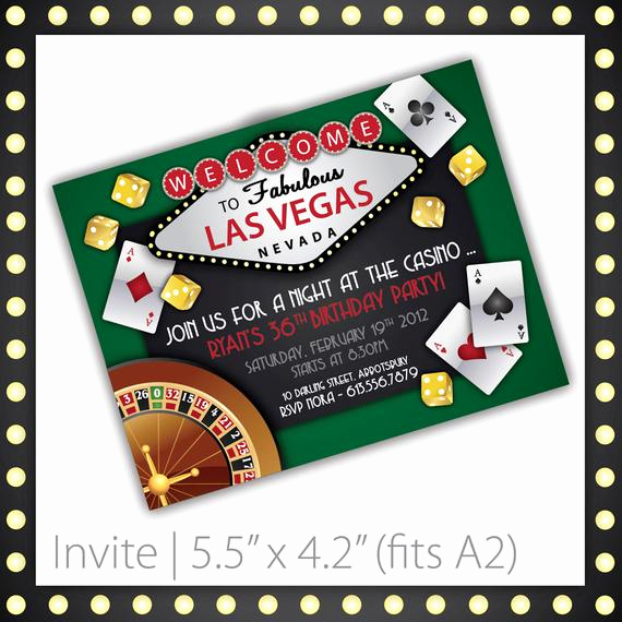 Vegas themed Invitation Templates Elegant Casino Party Invitations Lucky Draw by Blackcherryprintable